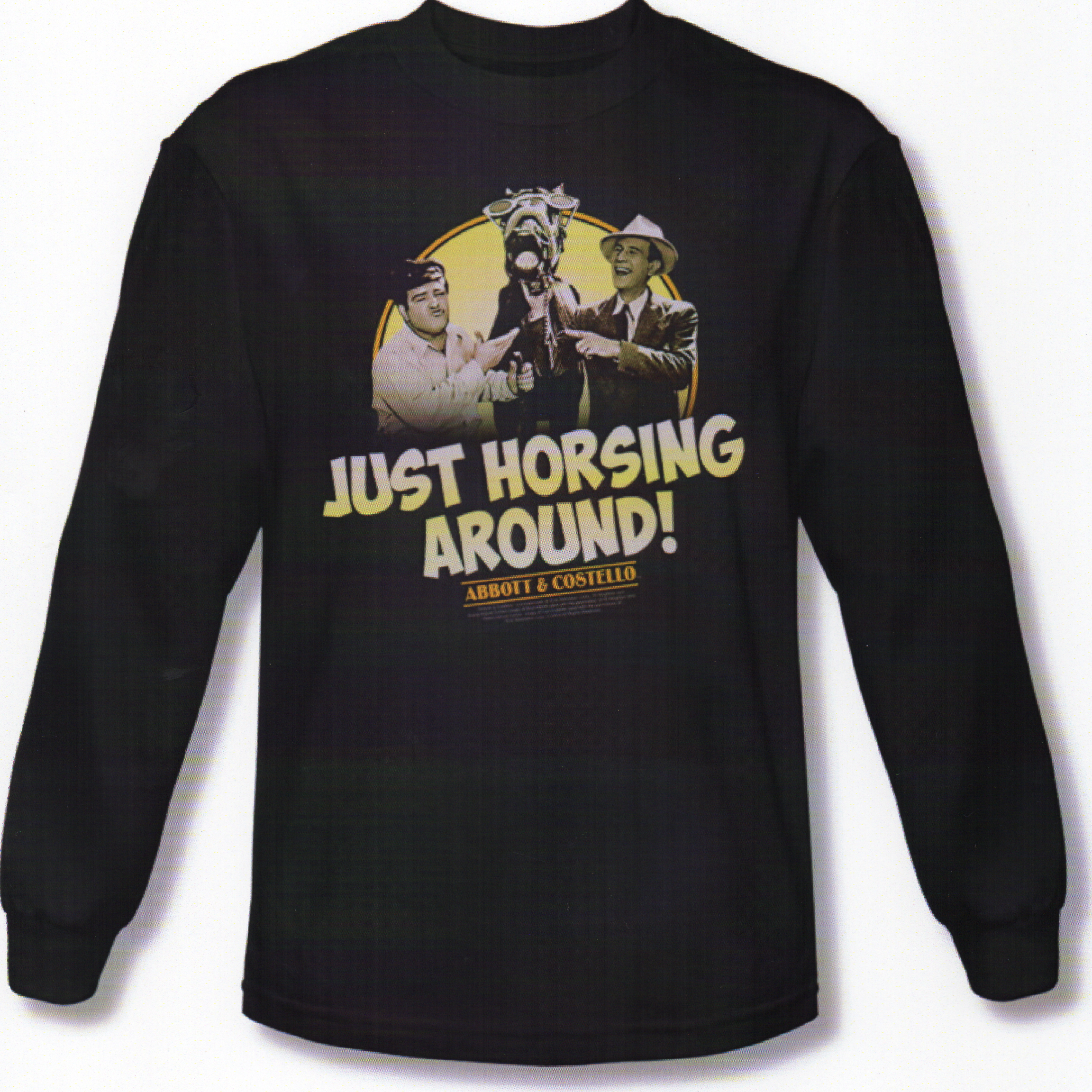 Just Horsing Around Adult Long Sleeve Tee - Click Image to Close