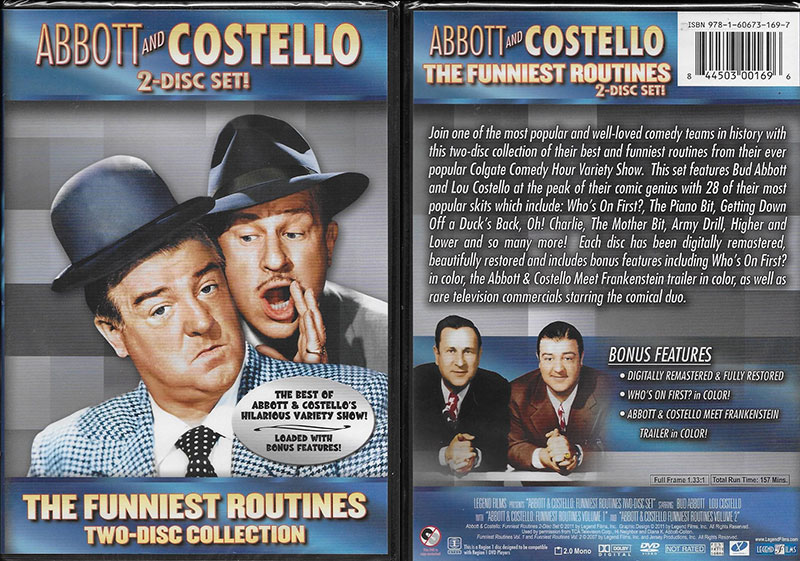 Abbott and Costello Funniest Routines 2-Disc Collection