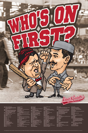 """Who's On First?"" wall poster (cartoon version)"